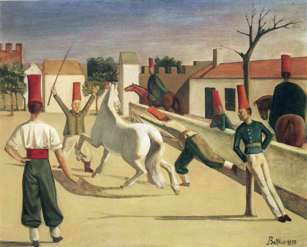 Balthus (Balthasar Klossovsky de Rola). The barracks. White horse