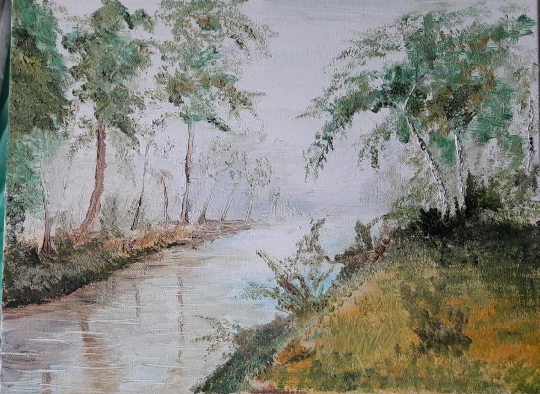 """Sergey Antonovich Bozhko. """"Forest River"""""""