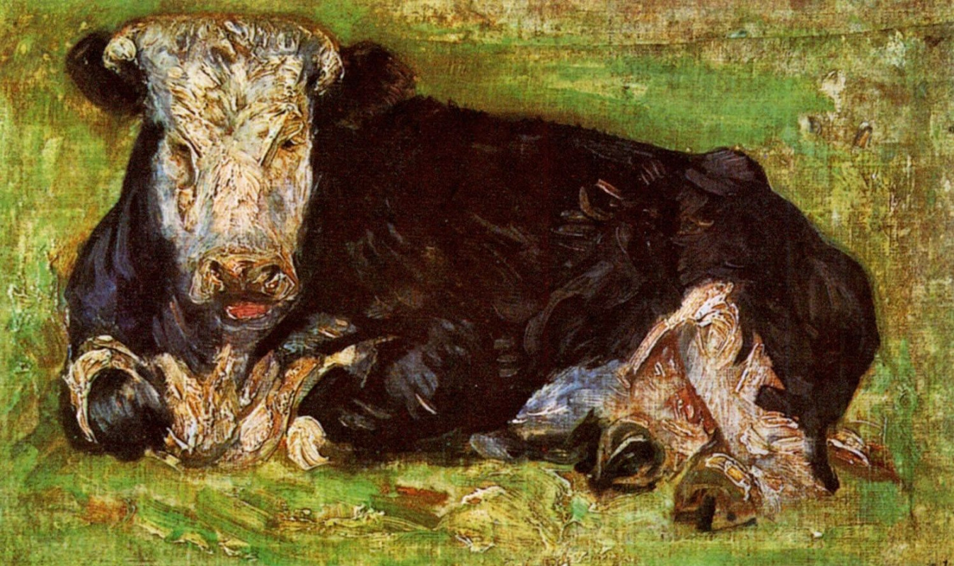 Vincent van Gogh. Lying cow