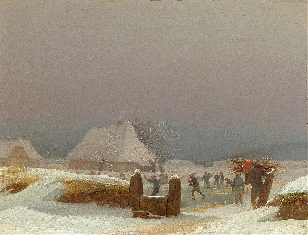 Wilhelm Bendz. Winter landscape from Foehn