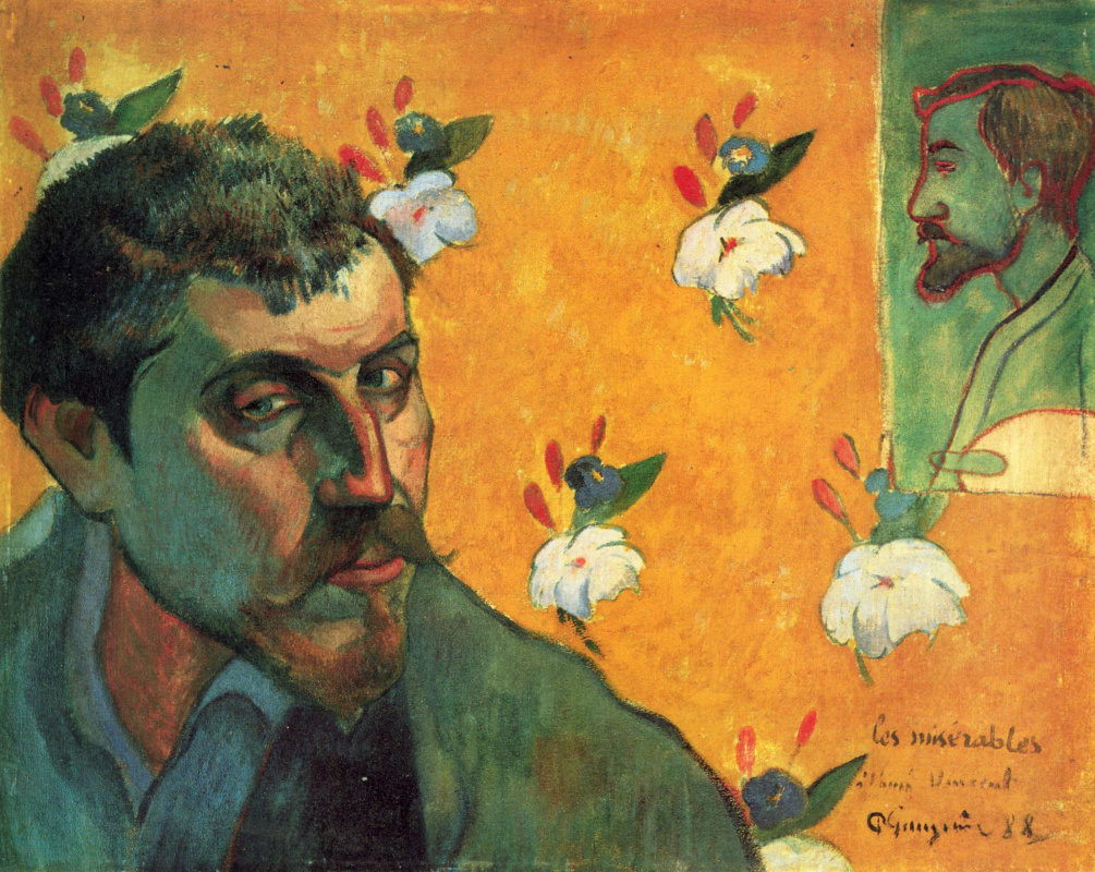 Paul Gauguin. Self Portrait with Emil Bernard (Les Miserables)