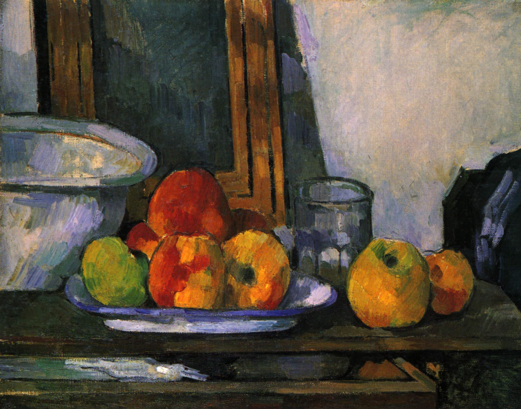 Paul Cezanne. Still life with extended box