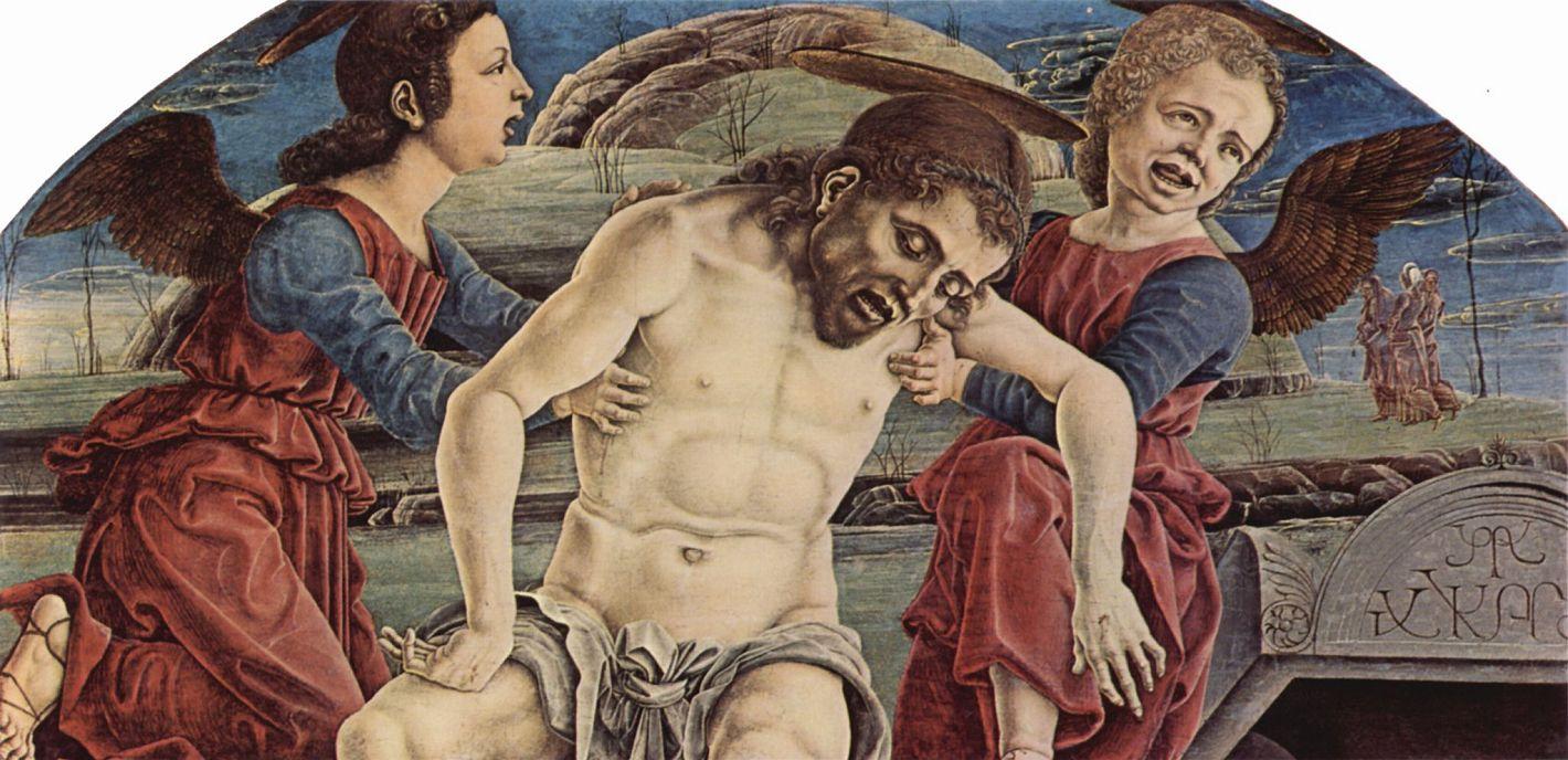 Козимо Тура. Пьета, ангел, фрагмент