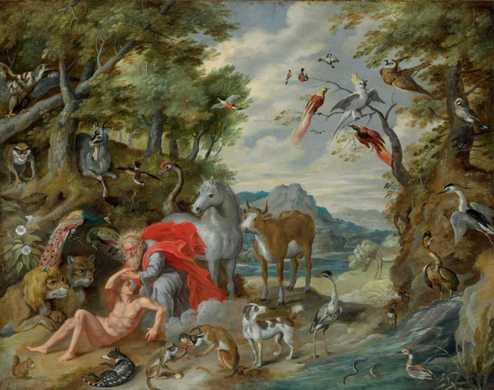 Jan Brueghel the Younger. The Story of Adam and Eve: The Creation of Adam