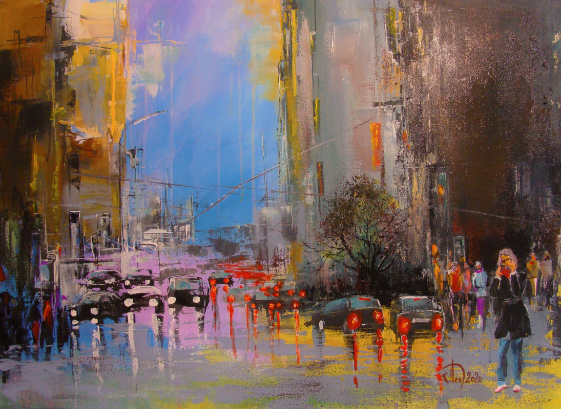 Alexander Alekseevich Lednev. In the autumn city