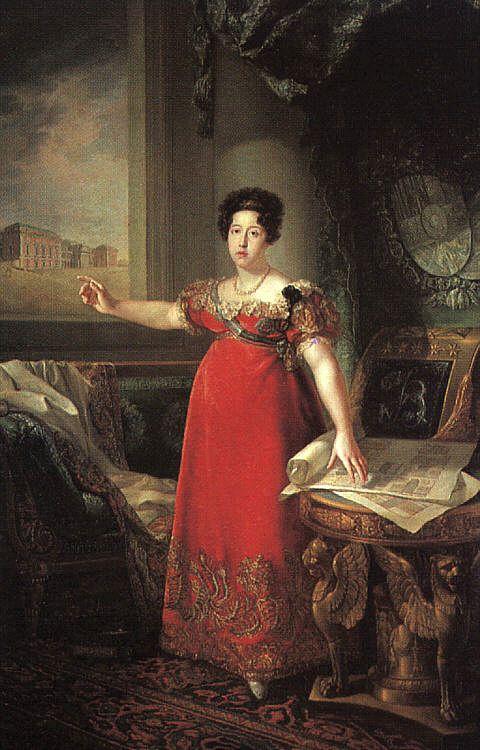 Бернардо Лопес. Женщина в длинном красном платье