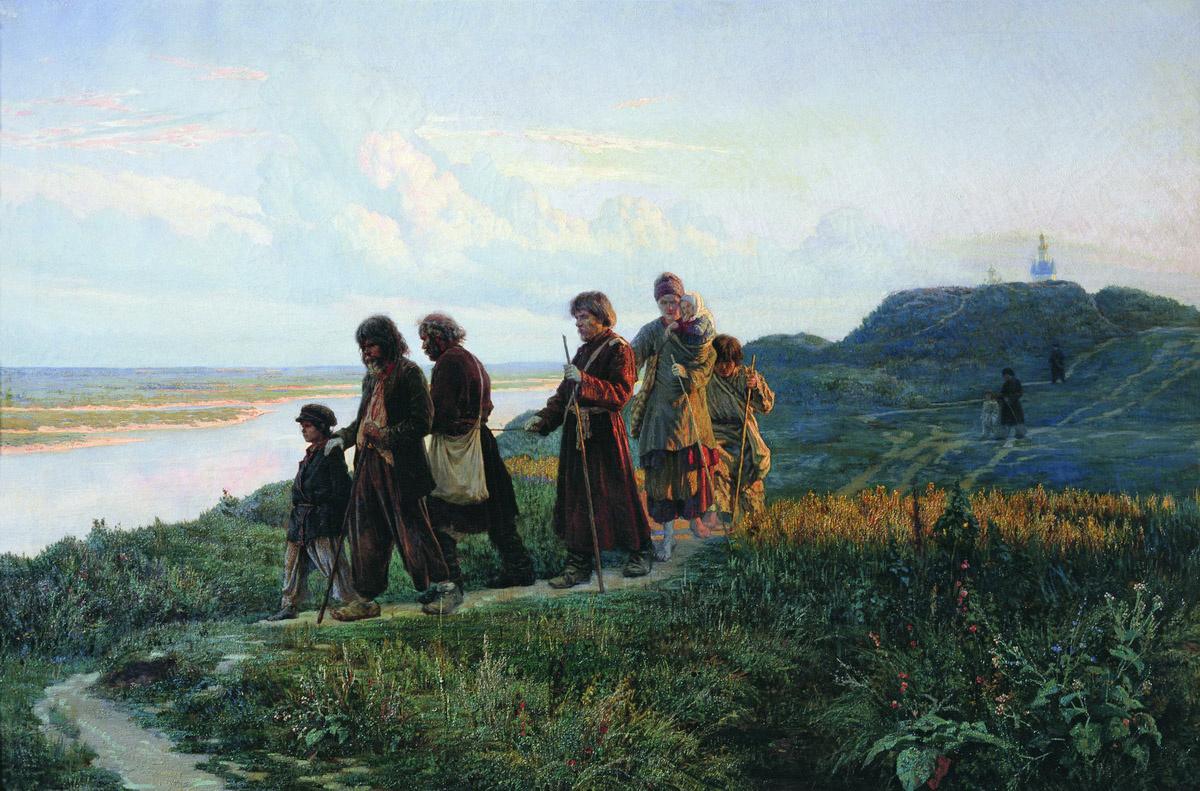 Nikolay Aleksandrovich Yaroshenko. Blind (Blind cripples near Kiev). 1879