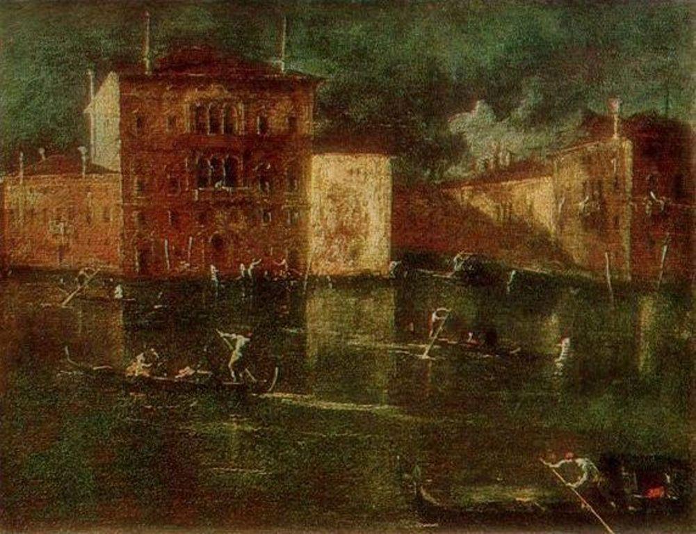 Франческо Гварди. Палаццо Бальби близ Большого канала в Венеции