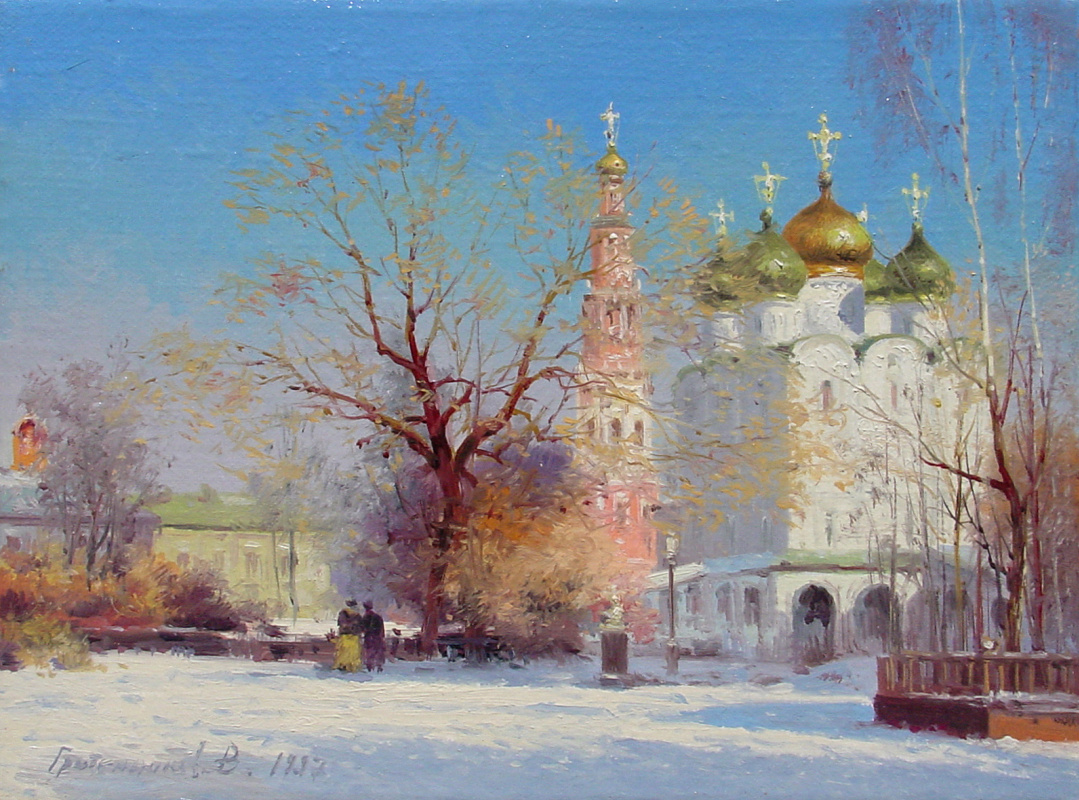 Vasily Ivanovich Gribennikov. View of the Smolensk Cathedral of the Novodevichy Monastery