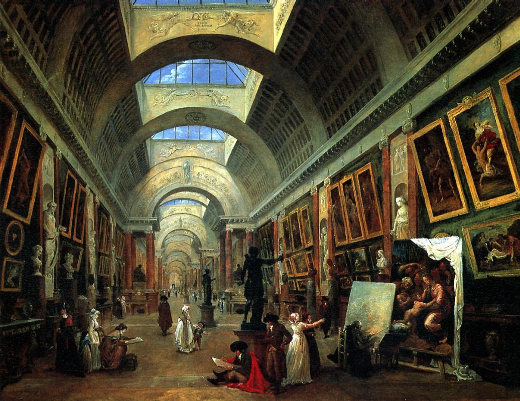 Юбер Робер. Проект оформления Большой галереи Лувра