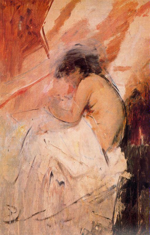 Игнасио Пиназо. Сидящая обнаженная женщина