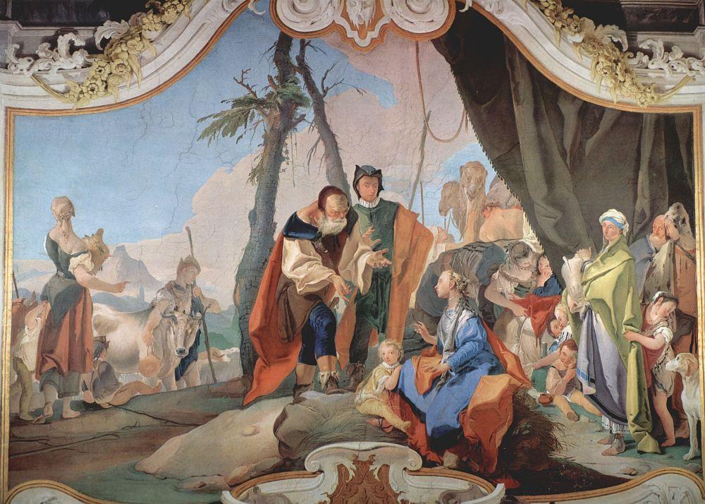 Джованни Доменико Тьеполо. Рахиль, укравающая идолов