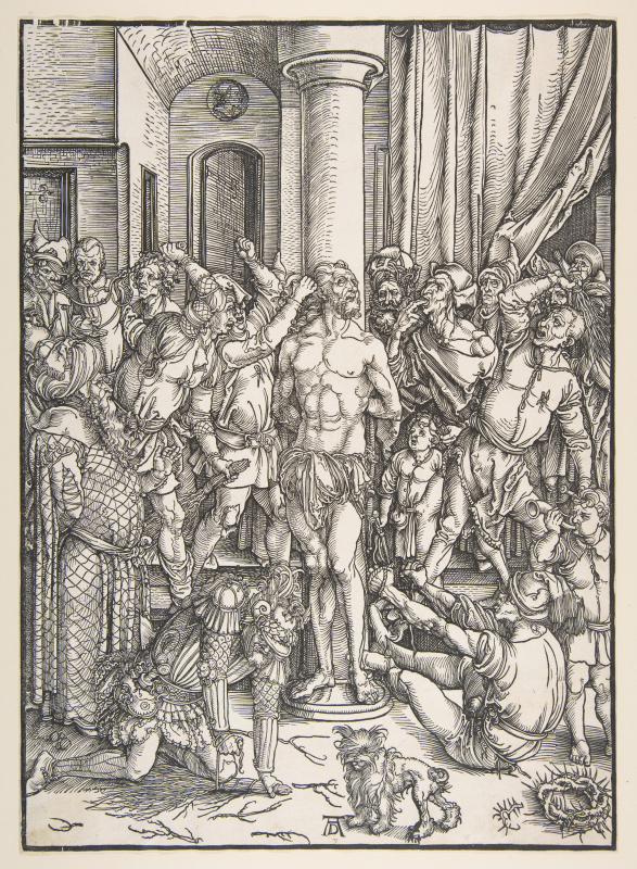 Albrecht Durer. Flagellation Of Christ