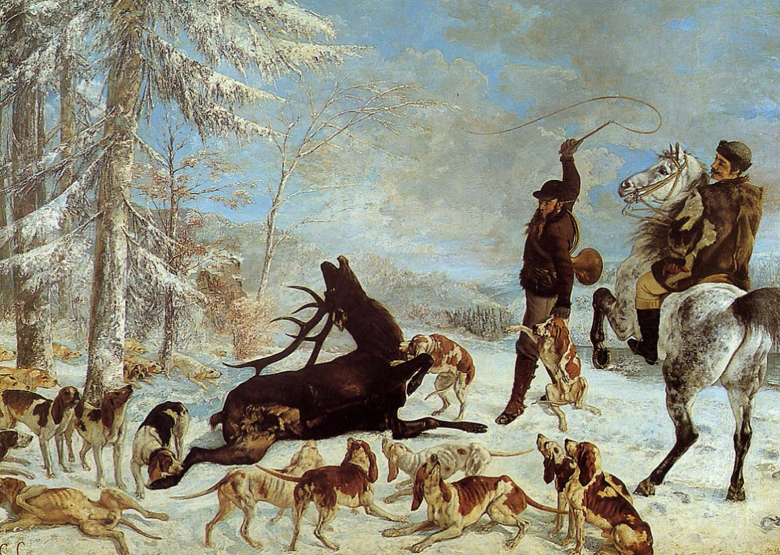 Gustave Courbet. Killing a deer