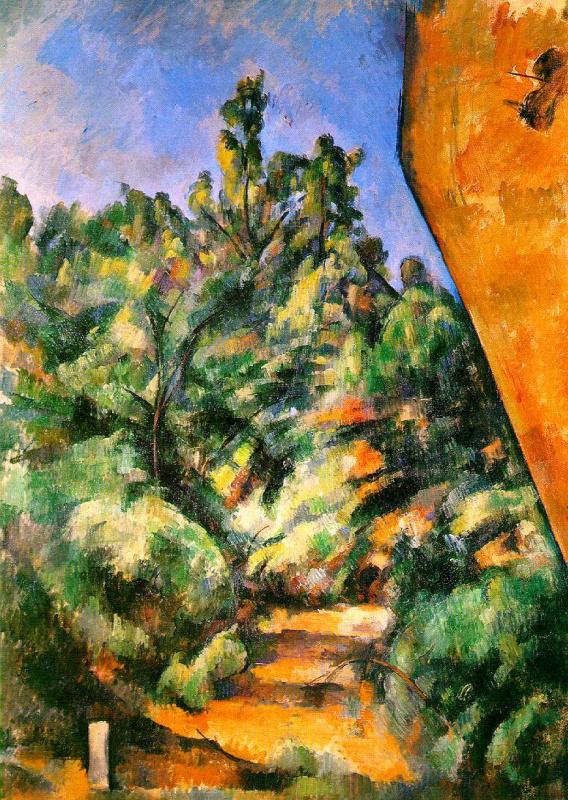 Paul Cezanne. Red rock in Bibemus.