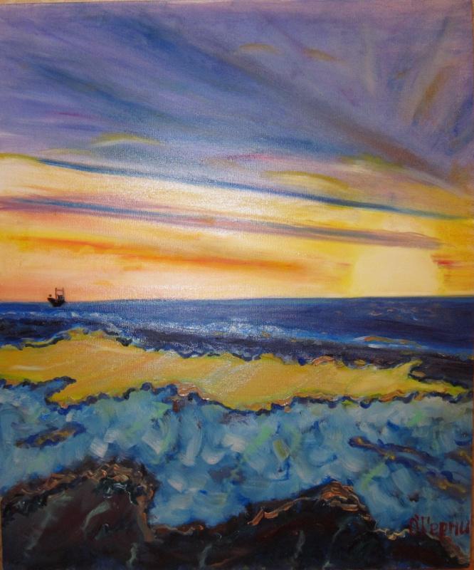 Olga Hermiseeva. Cyprus sunset in Chloraka