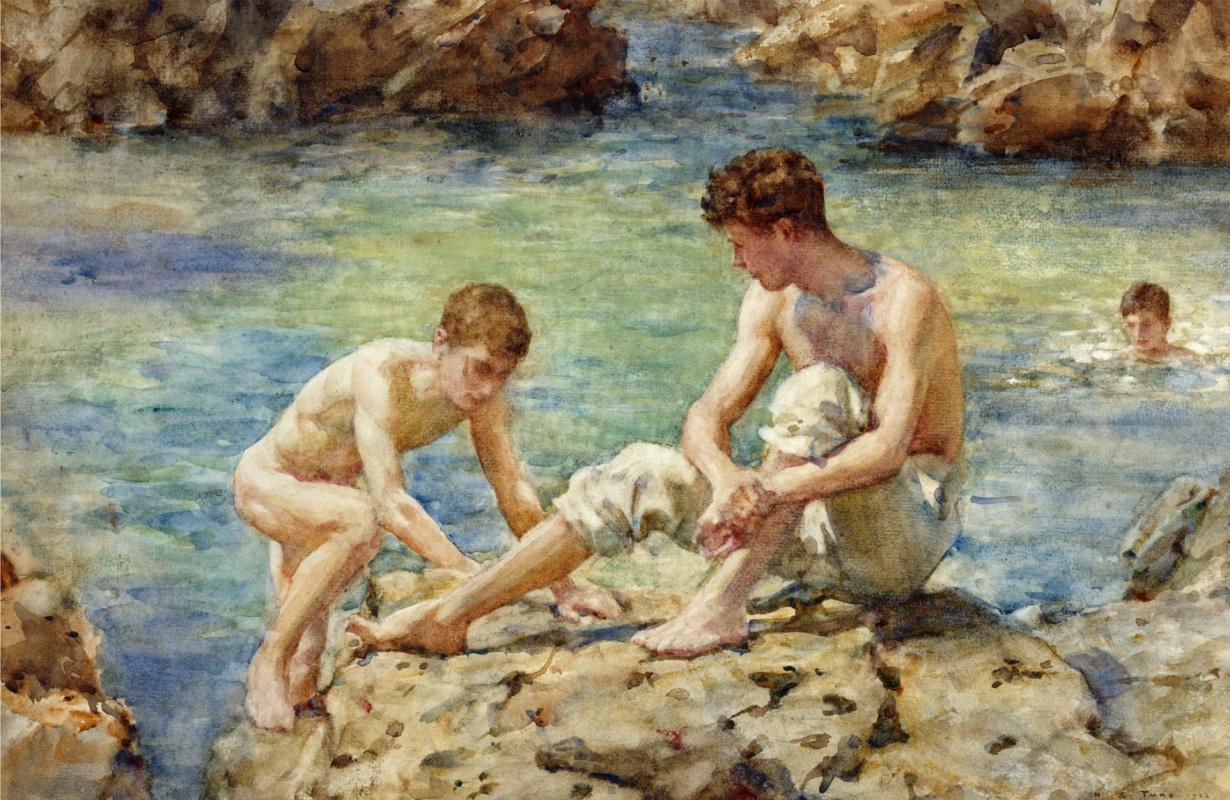 Tuke Henry Scott. 1858-1929. The Bathers, 1922