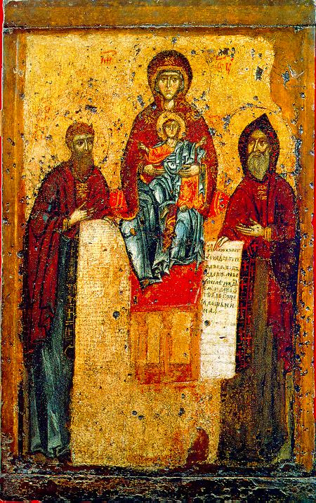Icon Painting. Svenska icon of the Mother of God