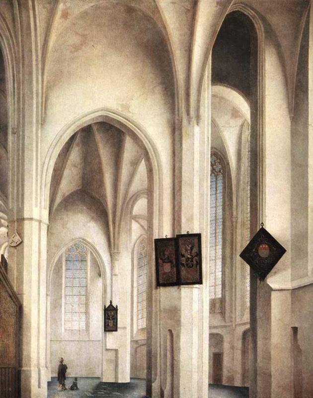 Питер Джансс Сенредам. Интерьер церкви Санкт Якоб