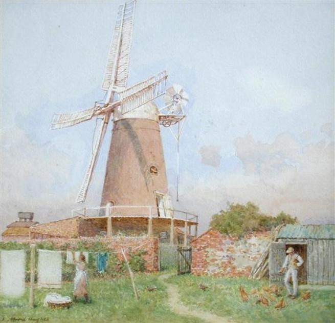 Arthur Hughes. Windmill