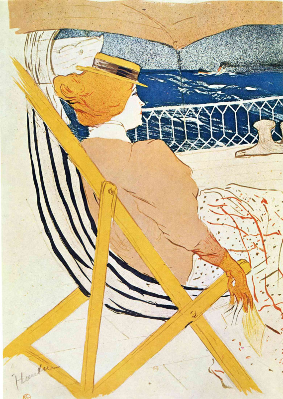 Henri de Toulouse-Lautrec. The passenger in cabin 54