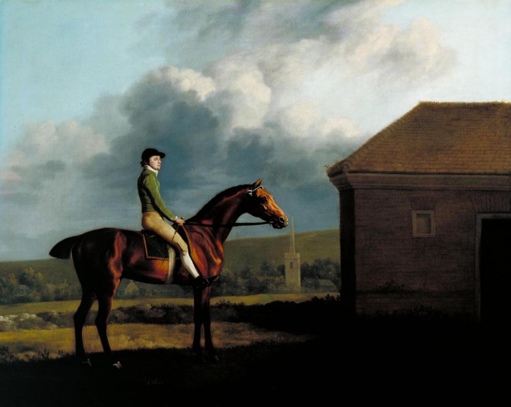 George Stubbs. Portrait of jockeys John Larkin