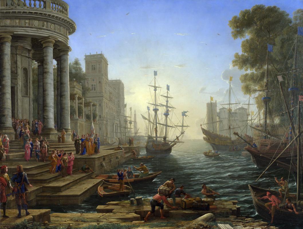Клод. Морской порт с посадкой Святой Урсулы