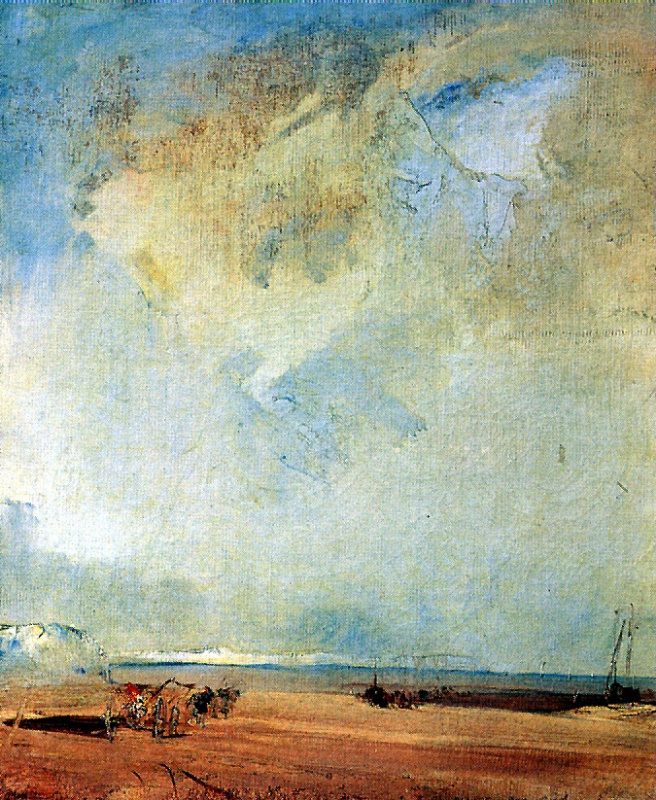Richard Parkes Bonington. View of the coast in Normandy