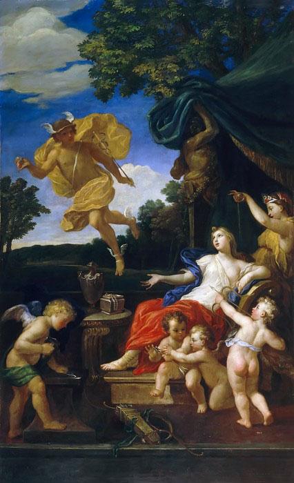 Туалет Венеры и Меркурий с золотым яблоком раздора