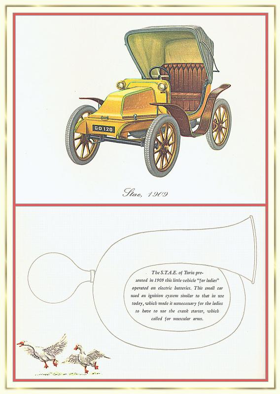 Лионель Моррис. Серия ретро-автомобили. 1909 СТАЕ.