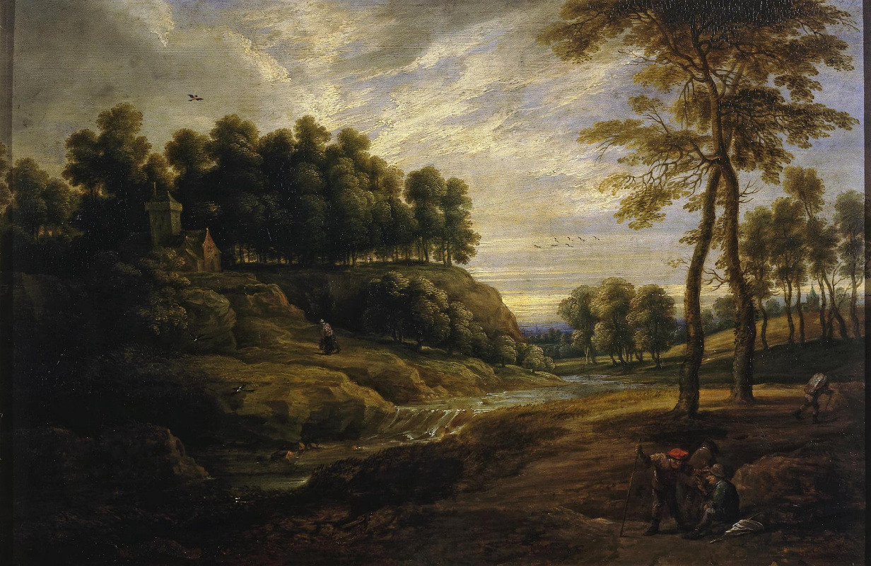 David Teniers the Younger. Landscape with a waterfall (co-authored with Lucas van Uden)