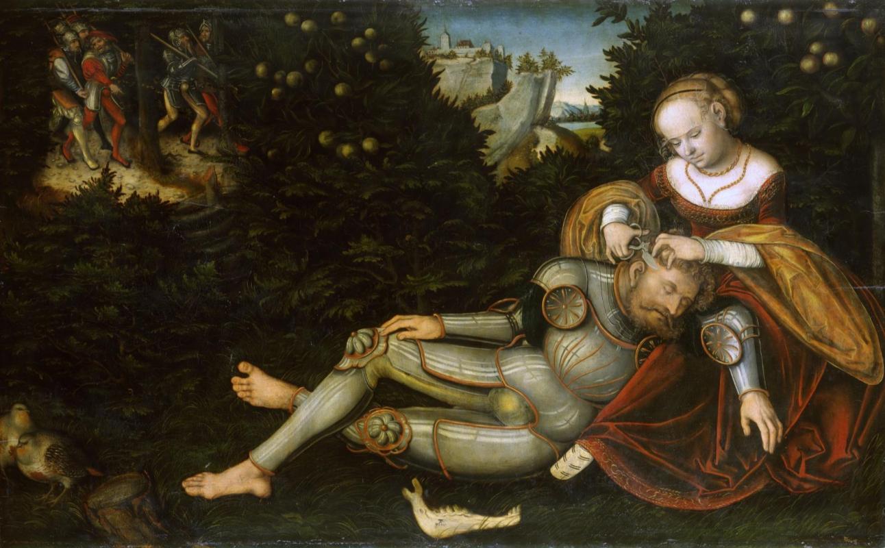 Lucas the Younger Cranach. Samson and Delilah.