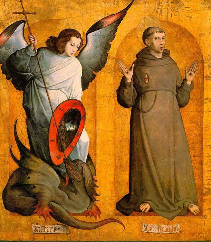 Хуан Де Фландес. Святые Михаил и Франциск