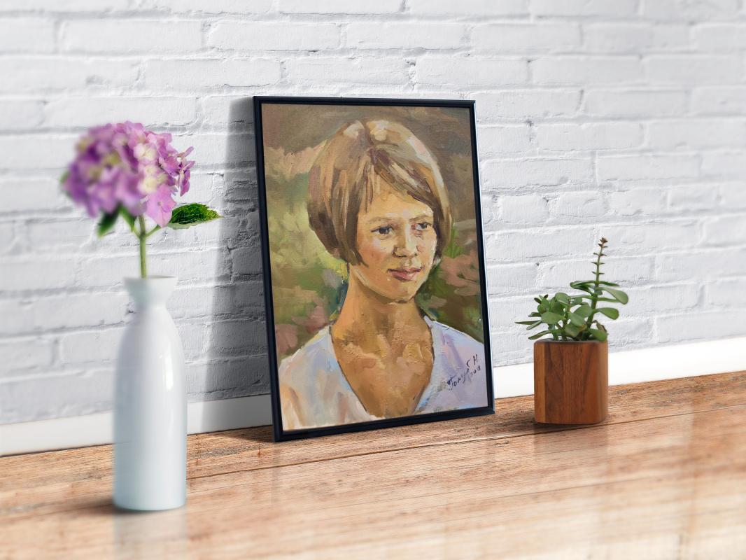 Nika Golub. Portrait of sister