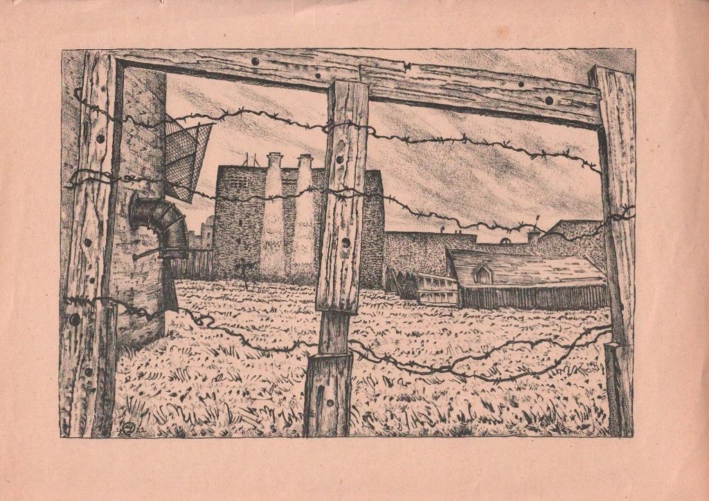 Mstislav Valerianovich Dobuzhinsky. Vegetable garden on the bypass channel. 1923