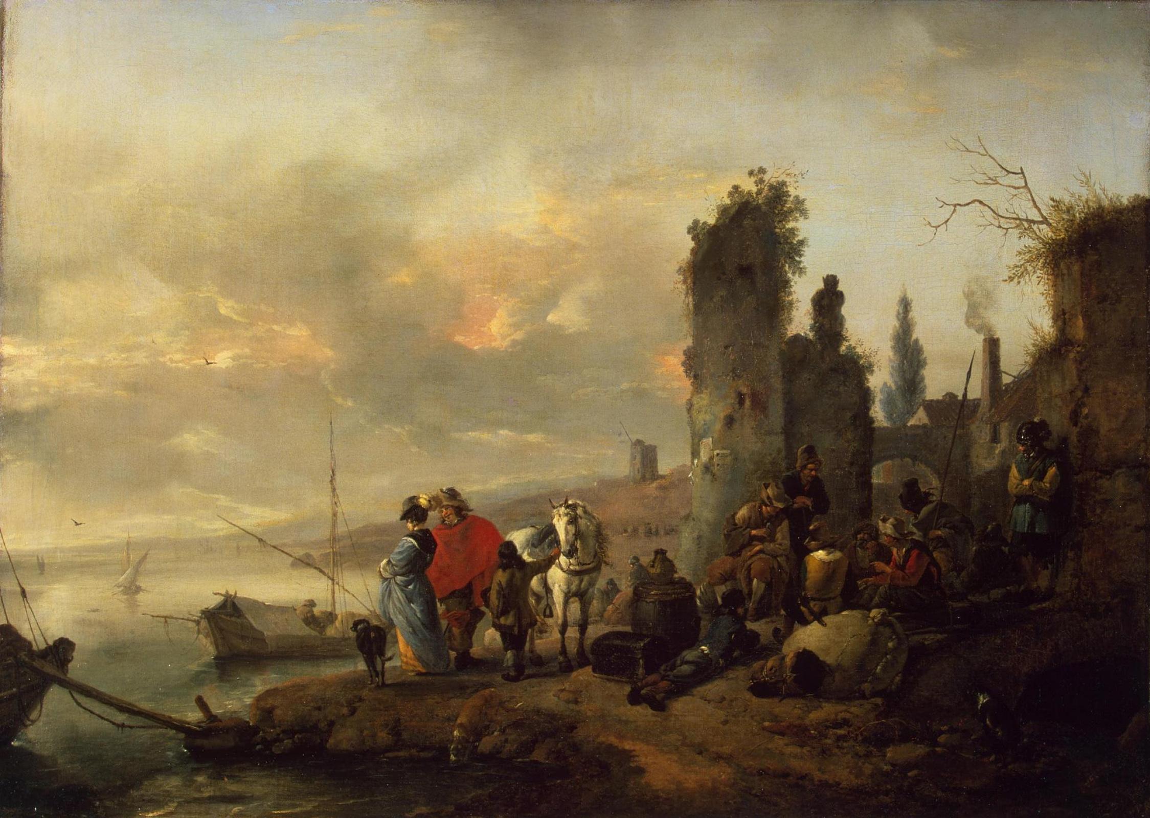 Филипс Вауверман (Воуверман). Приморская гавань