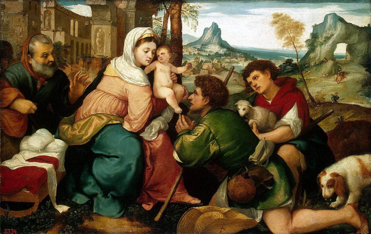 Бонифацио Веронезе. Поклонение пастухов