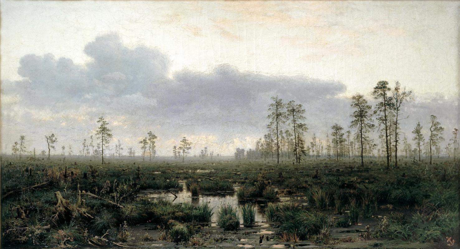 Владимир Карлович Менк. Утро на болоте