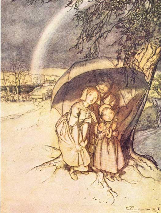 Артур Рэкхэм. Под зонтом