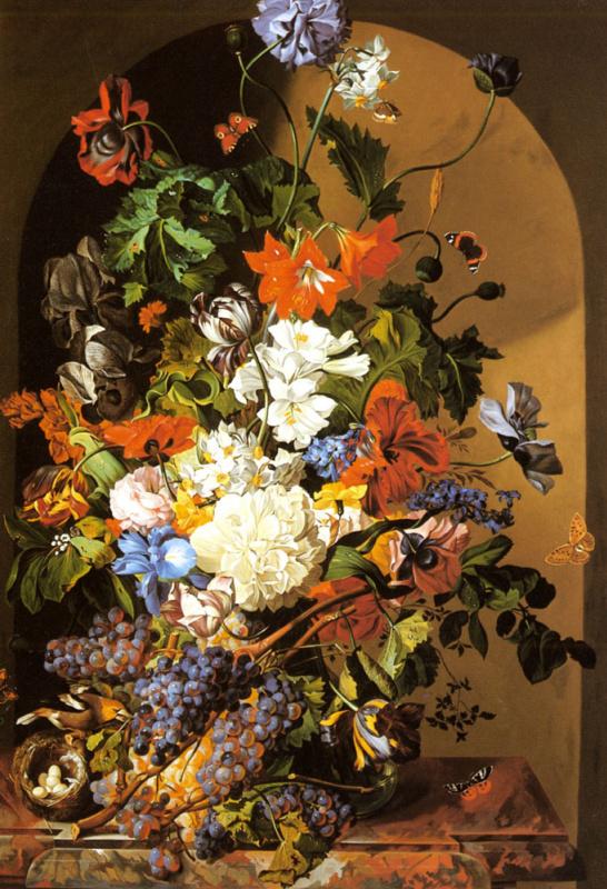 Леопольд Зинноггер. Натюрморт с цветами