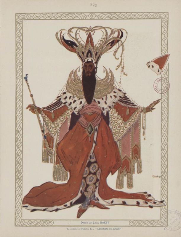 Lev (Leon) Bakst. Costume design for Potiphar in the ballet The Legend of Joseph