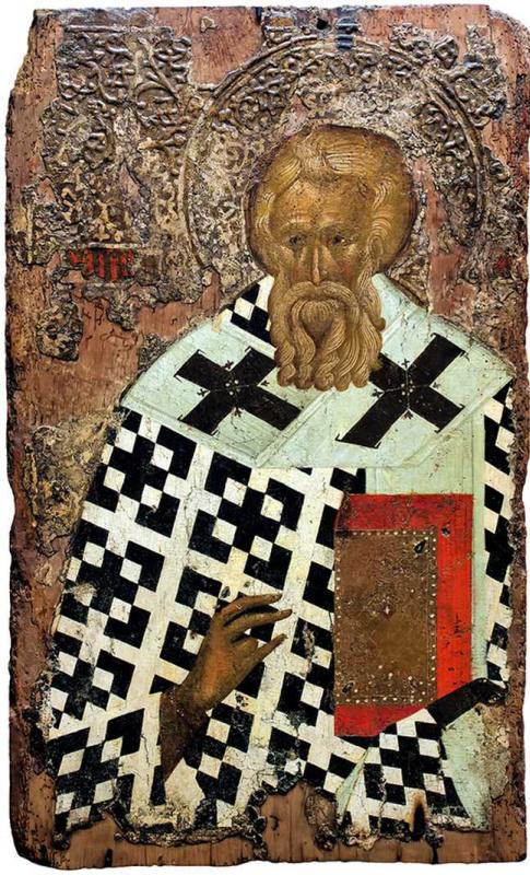 Болгарская икона. Святитель Мефодий Исповедник, патриарх Константинопольский