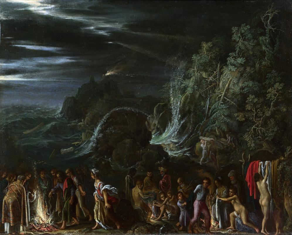 Адам Эльсхаймер. Святой Павел на Мальте