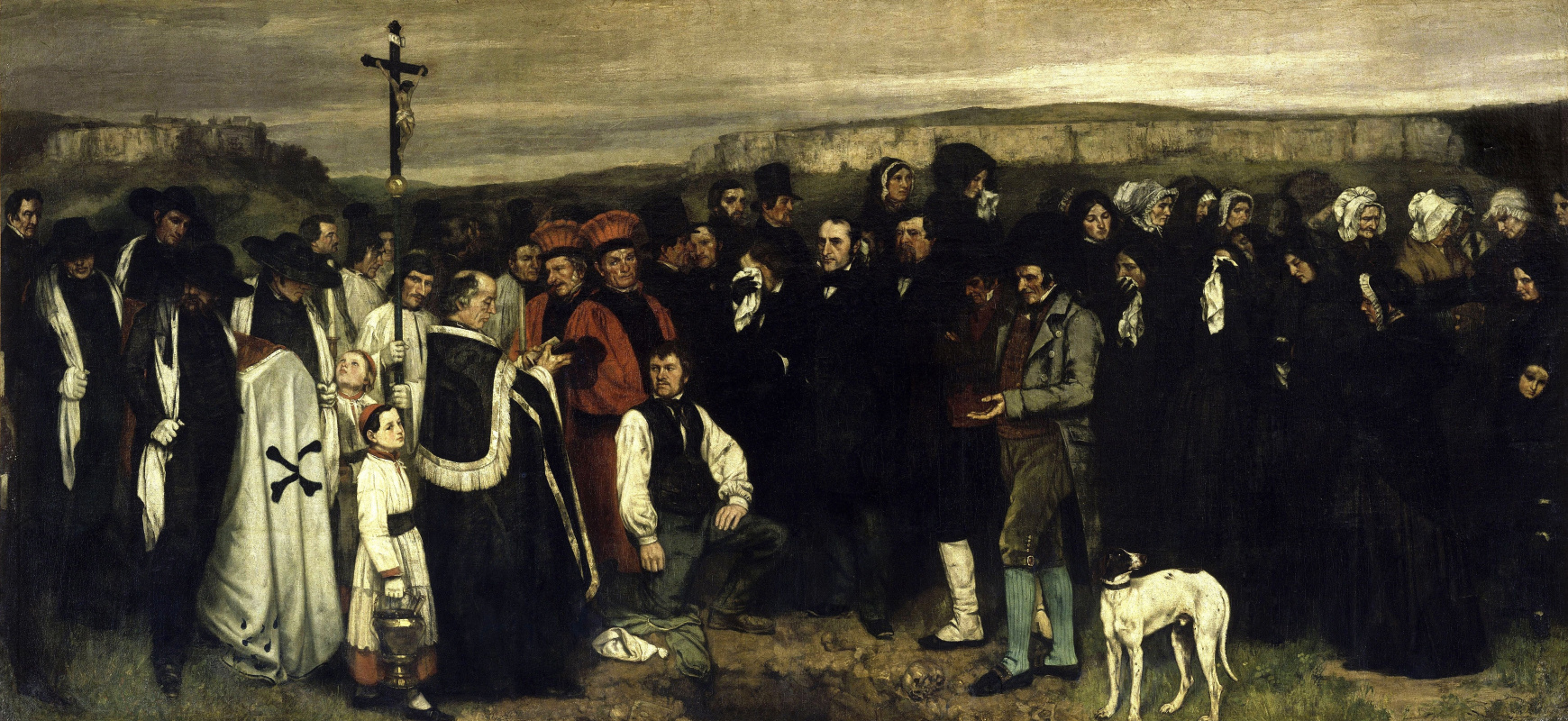 Gustave Courbet. A funeral in Ornans