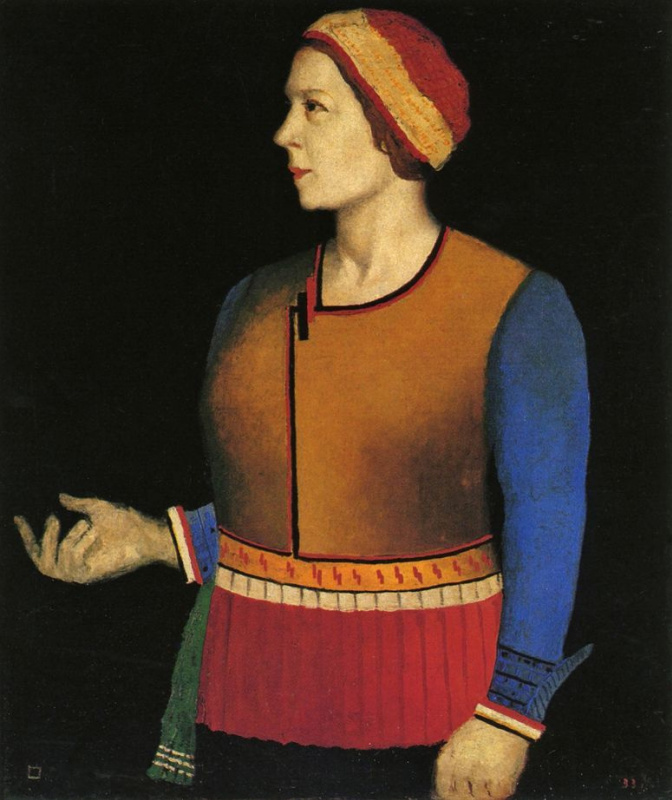 Kazimir Malevich. Portrait of the artist's wife