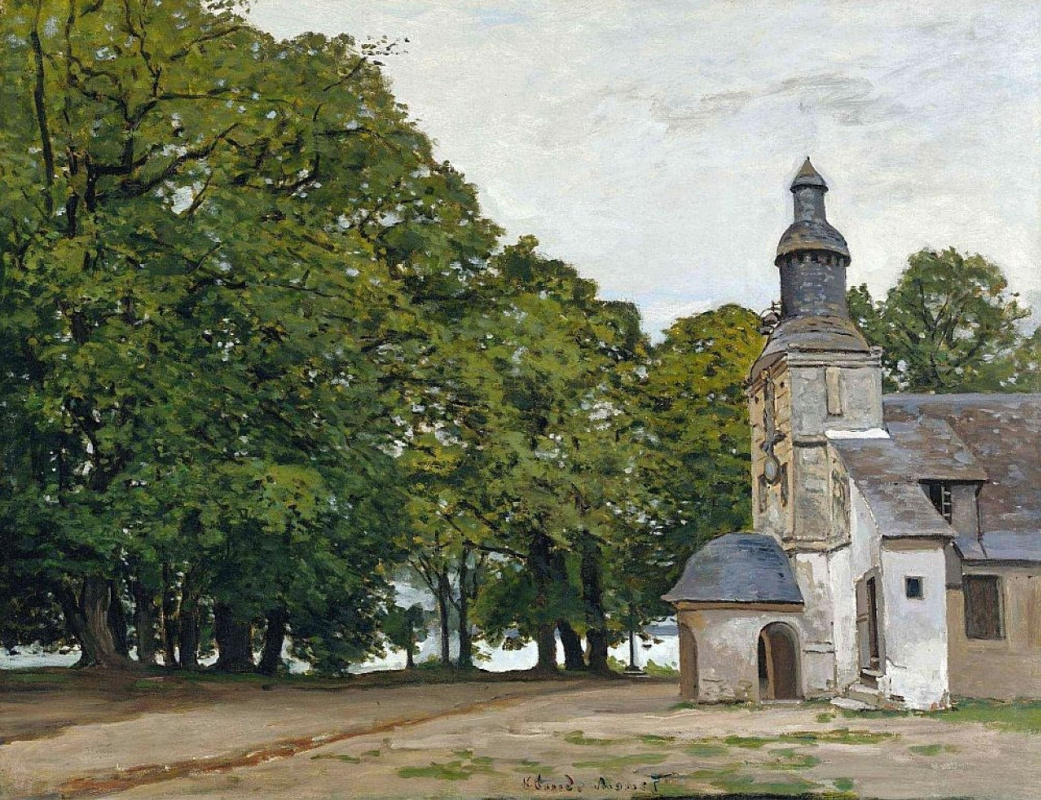 Claude Monet. The Church of Notre Dame de grace in Honfleur
