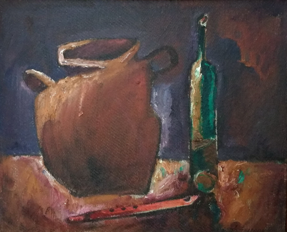 Unknown artist. Still life with a pipe