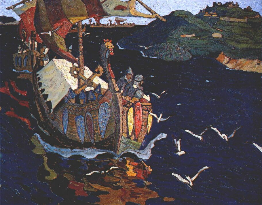 Nicholas Roerich. The overseas guests. Latest version-the repetition of the same pattern 1901