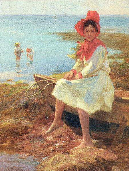 Эдвард Генри Поттаст. Девушка в красной шляпе
