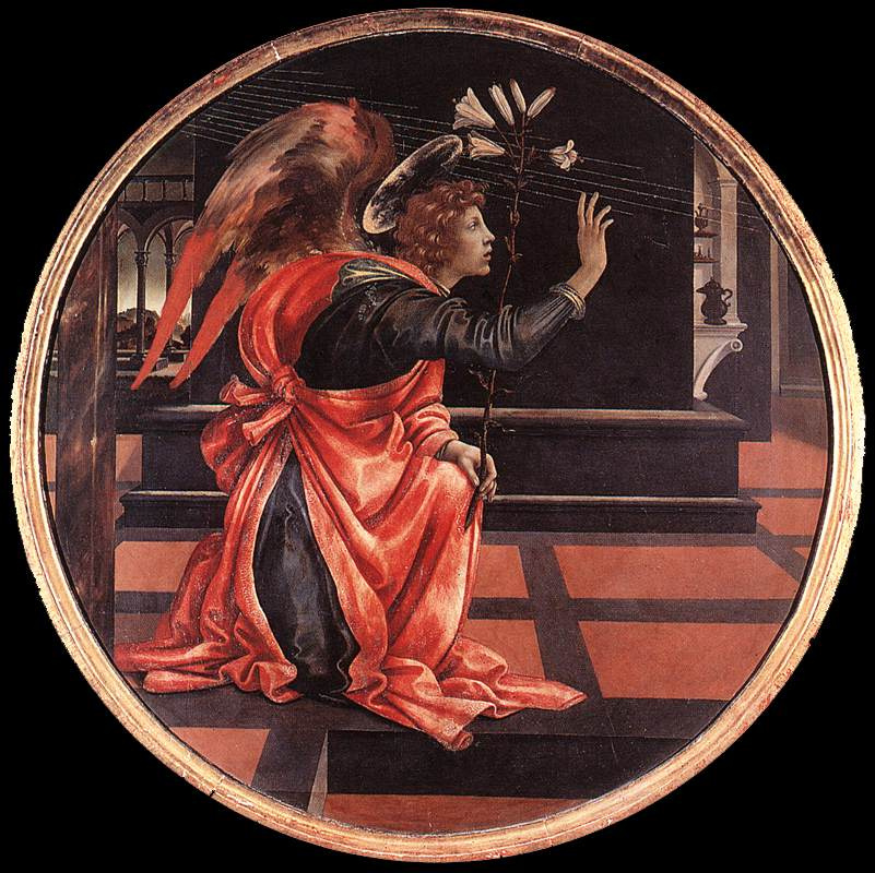 Filippino Lippi. Gabriel from the Annunciation